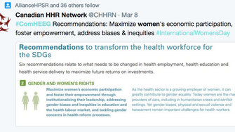 Advancing health labour market data, analysis and tracking: The Importance of Gender-Disaggregated D