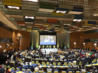 Women in Global Health's Affirmative Stand at the UN-HLM (UNGA74)
