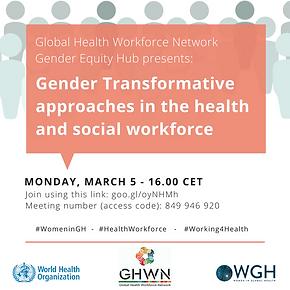 A focus on women in the health workforce on International Women's Day