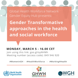 A focus on women in the health workforce on International Women's Day