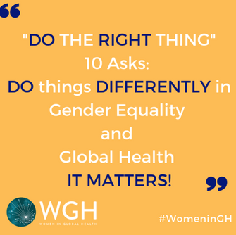 Ten Asks: doing things differently in Gender Equality and Global Health