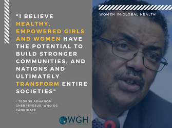 A Warm Welcome to Dr. Tedros