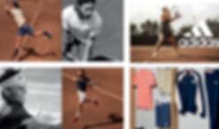 textile,adidas,roland garros,thiem,pouille,zverev,2018,polo,veste,short,chaussures,wozniacki,mladenovic,muguruza