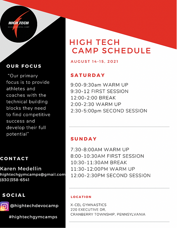 High Technical Camp Schedule.PNG