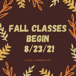 Fall Classes Begin 8/23/21
