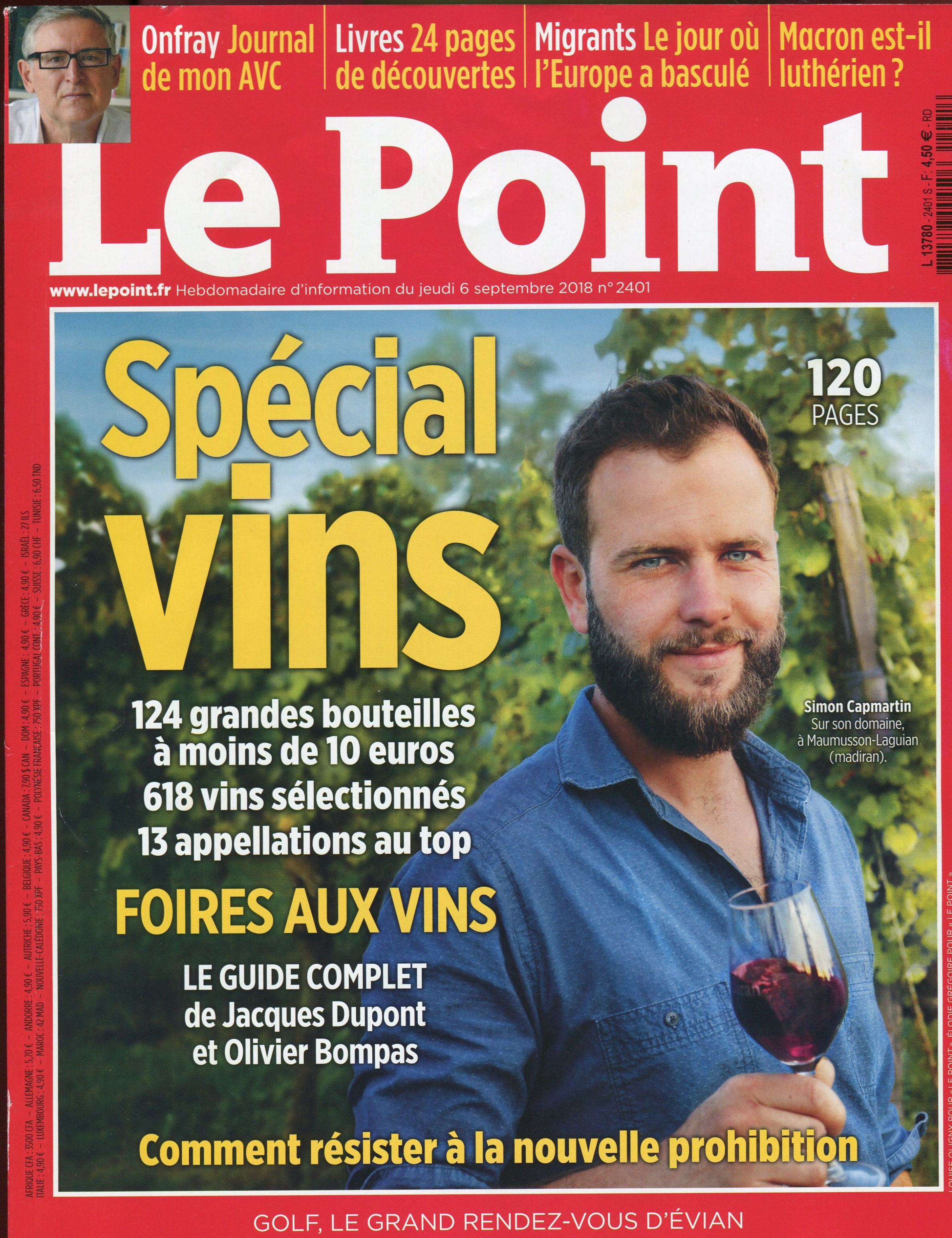 LE POINT 6 SEPT 2018 COUV