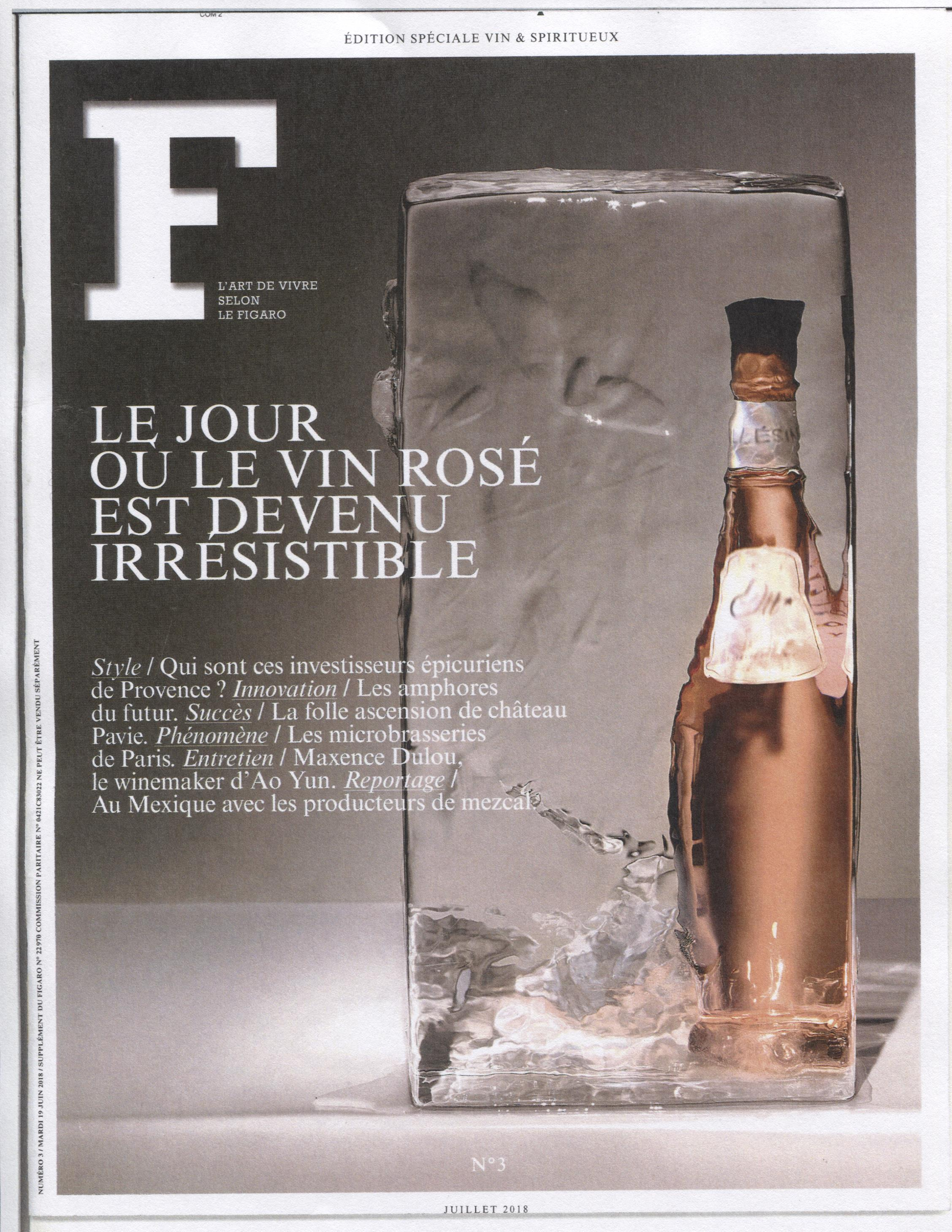 LE FIGARO EDITION SPECIAL VIN COUV