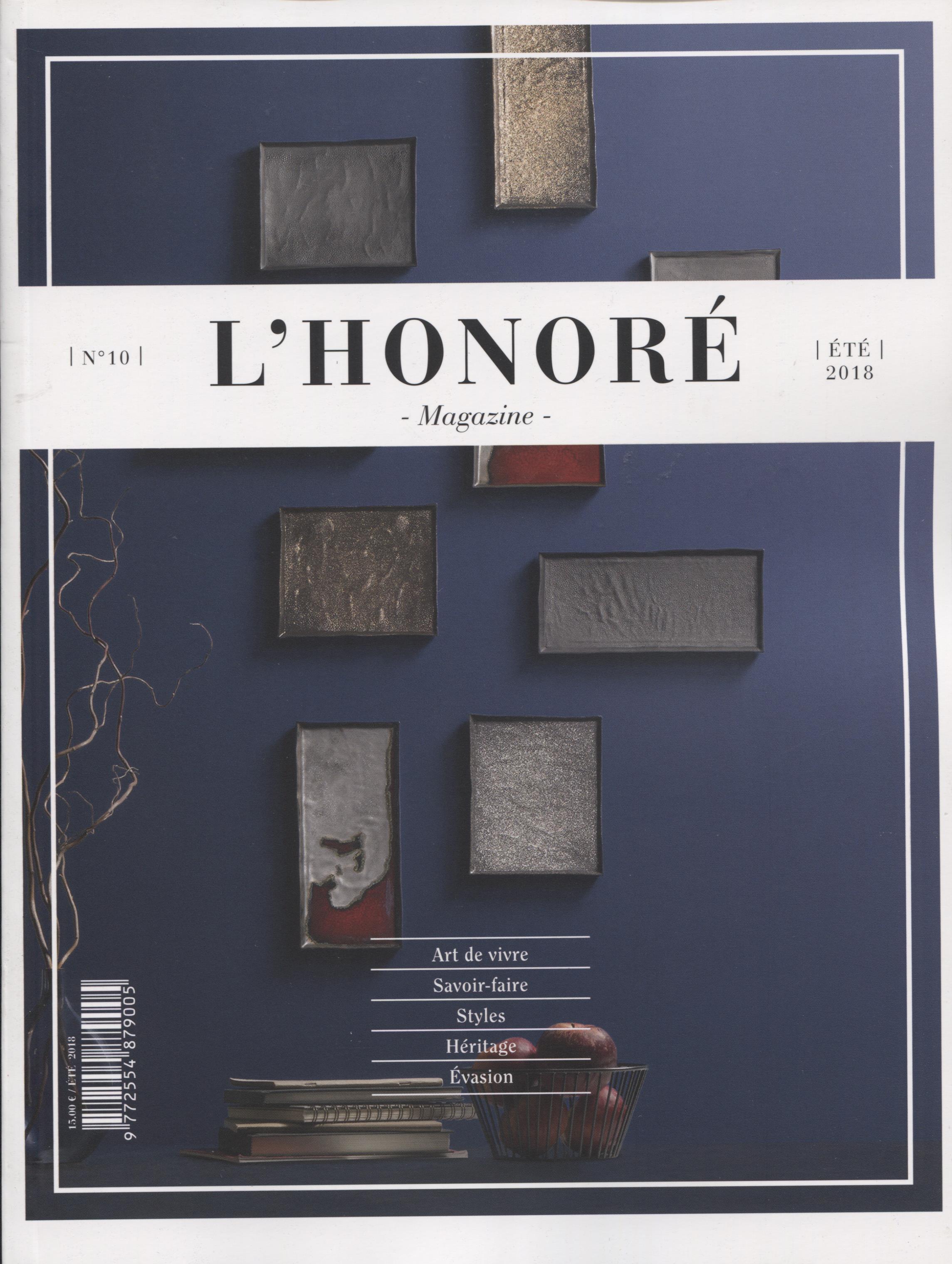 L HONORE MAGAZINE ETE 2018 COUV