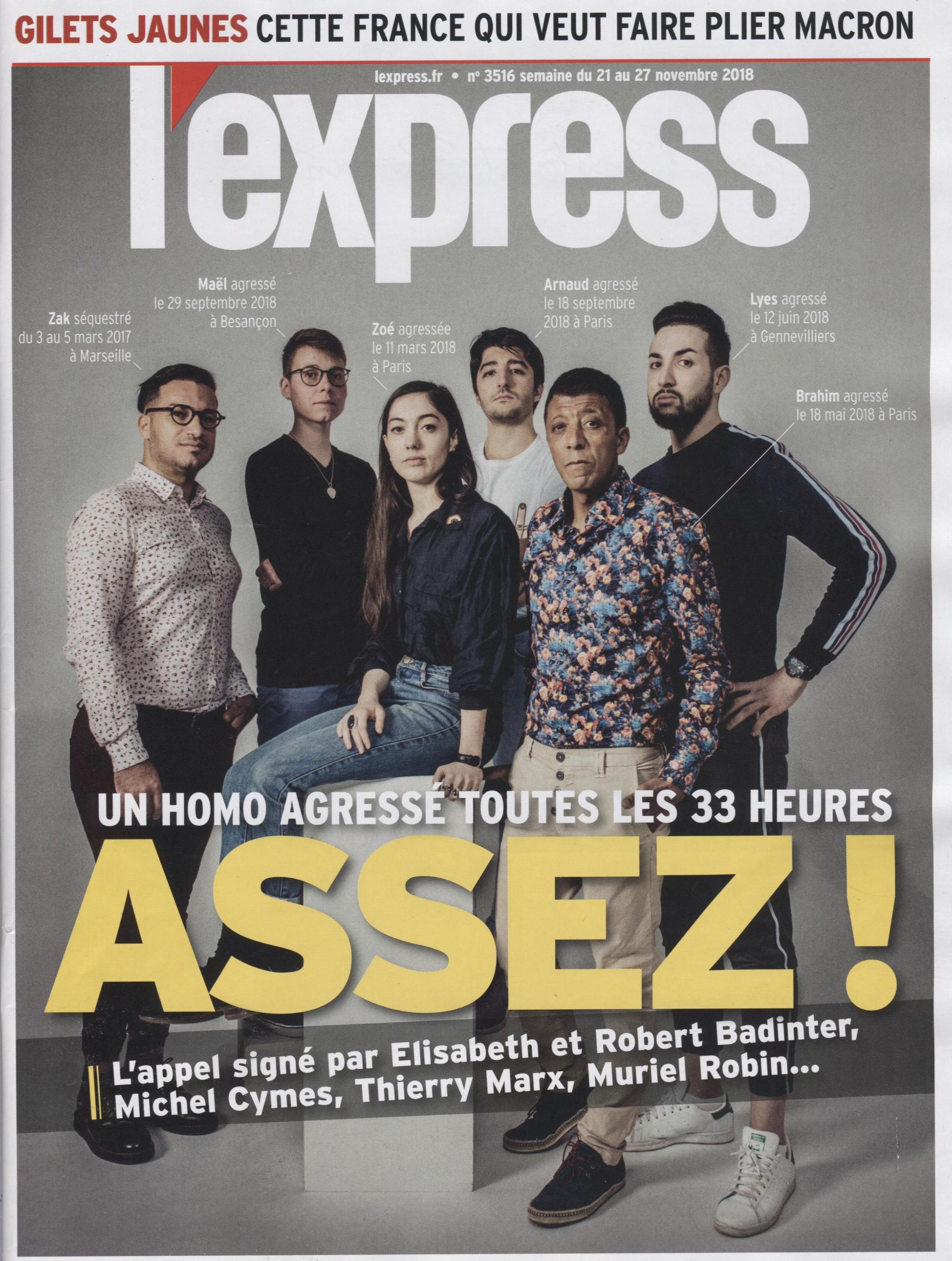 L'EXPRESS 22 NOVEMBRE 2018 COUV