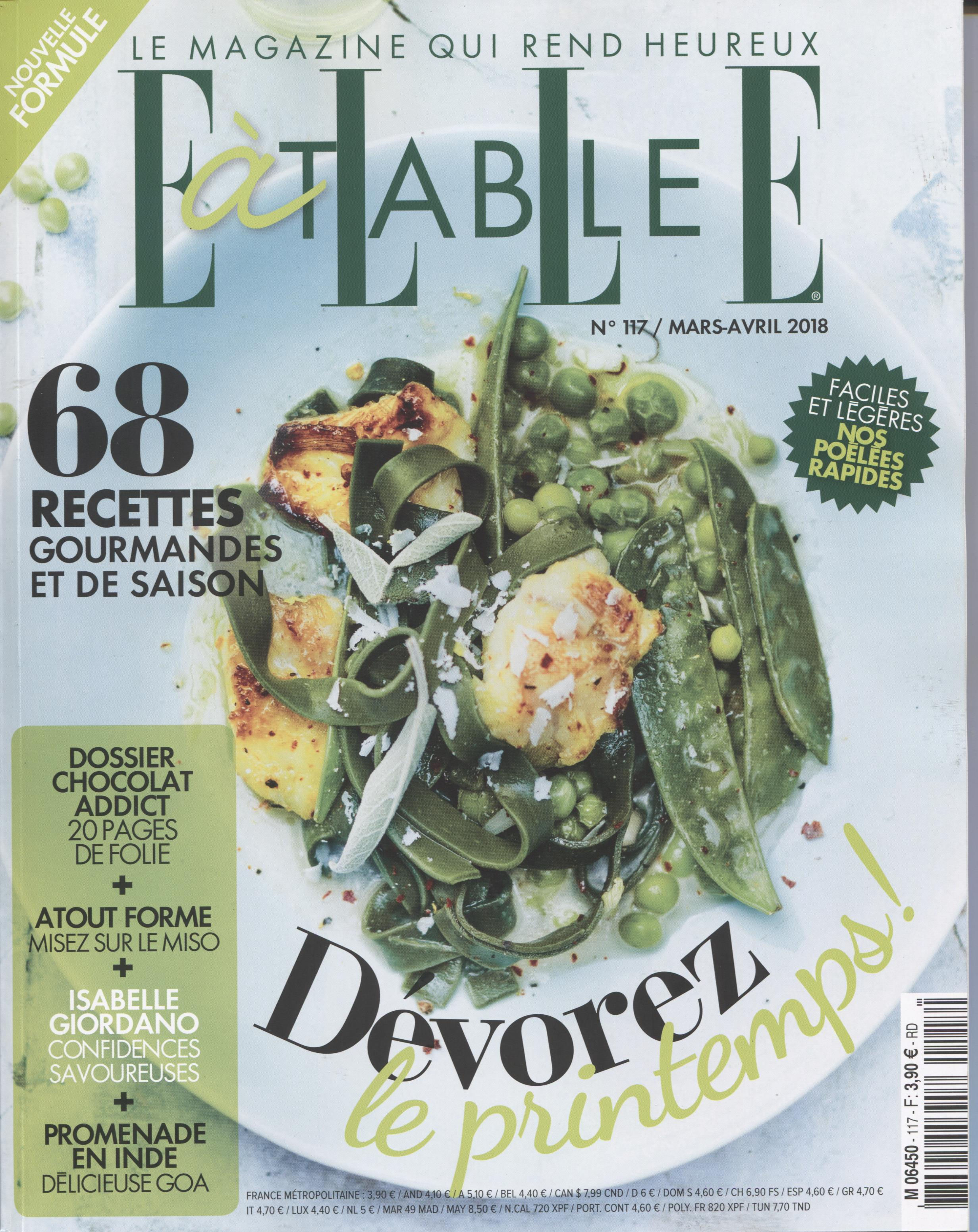 ELLE A TABLE MARS AVRIL 2018 COUV