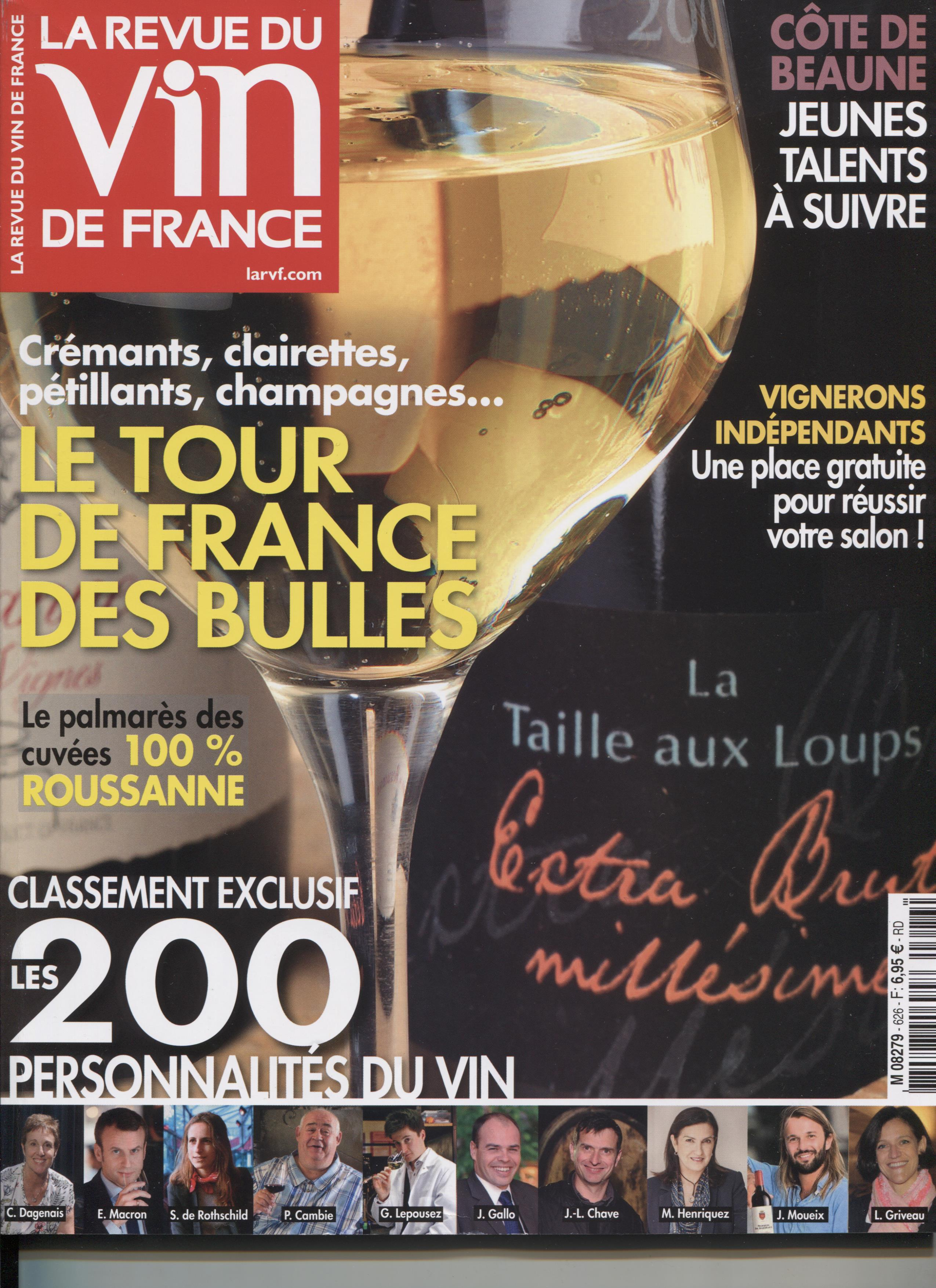 LA REVUE DU VIN DE FRANCE NOVEMBRE 2018
