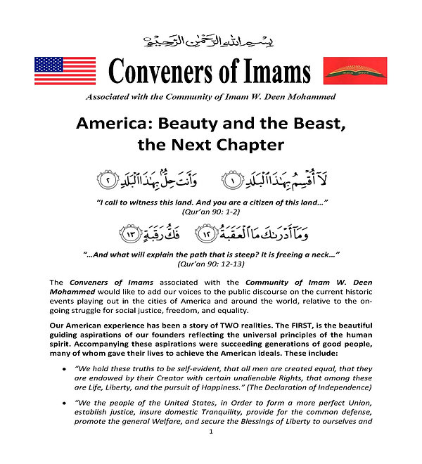 Conveners-STATEMENT America Beauty and t