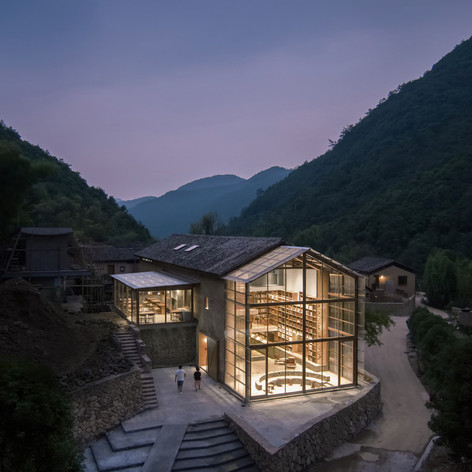 Winner and People's Choice in Architecture, Adaptive Re-Use    Atelier tao+c: Capsule Hotel in a Rural Library, Qinglongwu, China  Photo credit: AZURE