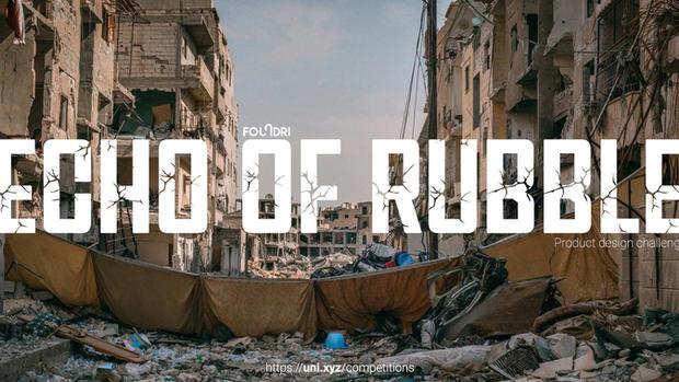 Echo of Rubble - Post-war debris product design competition