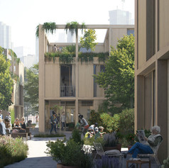 Winner and People's Choice in Concepts, Ideas and Prototypes    EFFEKT Architects: The Urban Village Project  Photo credit: AZURE