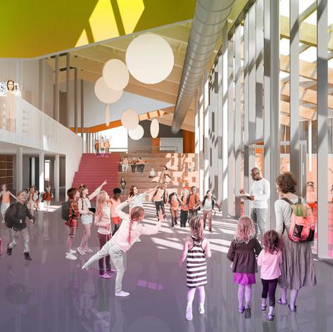 Rimouski - Interior view Photo credit: L'ŒUF et Lapointe Magne et Associés