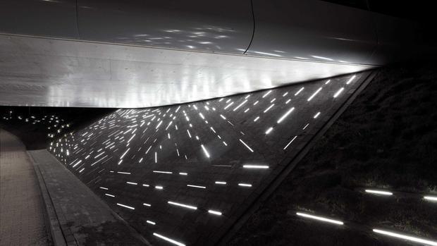 Passing Trains Provoke a Waterfall of Light in Artwork | Matthias Oostrik