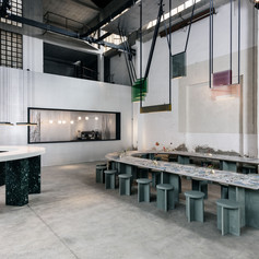 Winner in Architecture, Temporary and Experiential Installations    Lambert & Fils with DWA Design Studio: Caffè Populaire, Milan, Italy  Photo credit: AZURE