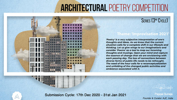 Architectural Poetry Competition, 3rd Cycle: Improvisation 2021