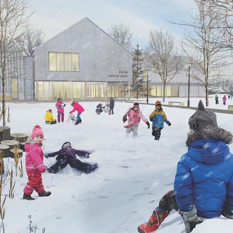 Maskinongé - Winter view Photo credit: Paquet - Taillefer et Leclerc architectes