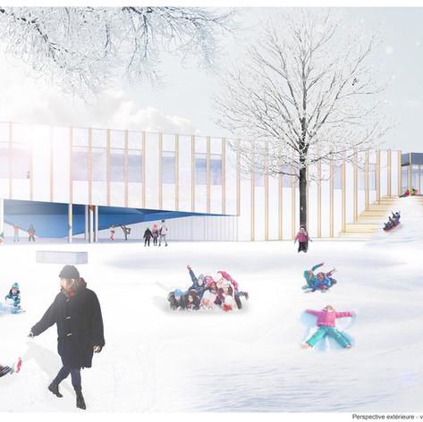 Gatineau - Exterior Perspective Photo credit: Crédit photo :DMA architectes