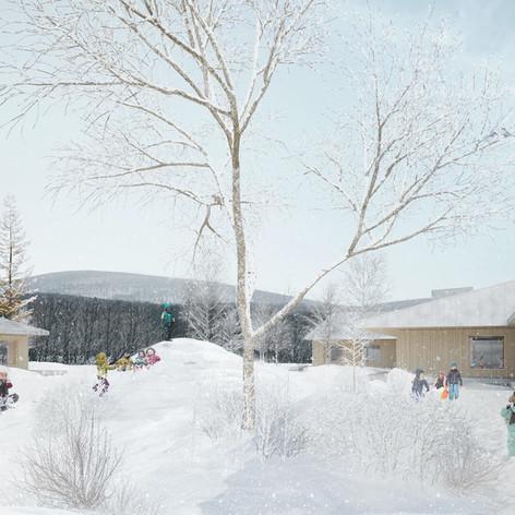Shefford - Exterior winter view Photo credit: Pelletier de Fontenay et Leclerc architectes