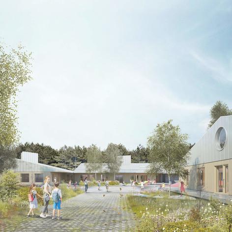 Shefford - Exterior summer view Photo credit: Pelletier de Fontenay et Leclerc architectes