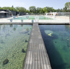 Winner in Architecture, Buildings Under 1,000 Square Metres    Gh3* architecture: Borden Park Natural Swimming Pool, Edmonton, Canada  Photo credit: AZURE