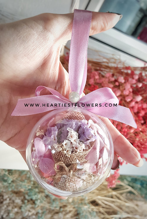 Purple Theme Hanging Ornament - with keychain