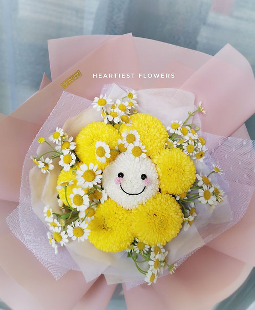 Smiley face with Chamomile - Fresh Flower
