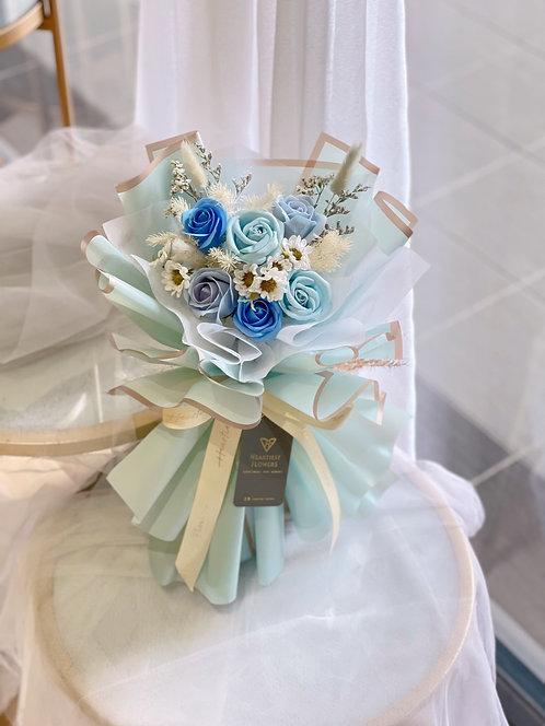 Blue Ocean - Soap Flower Bouquet