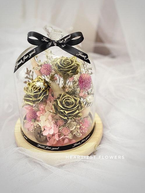 Gold Rose Jar
