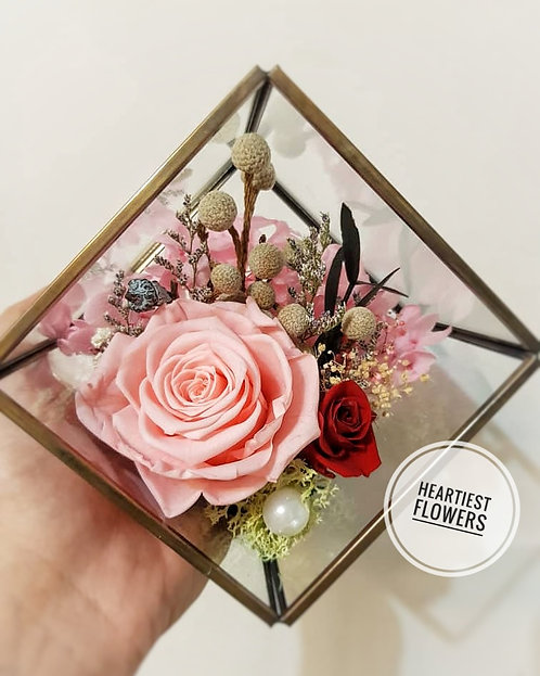 Metal & Glass Terrarium Flower