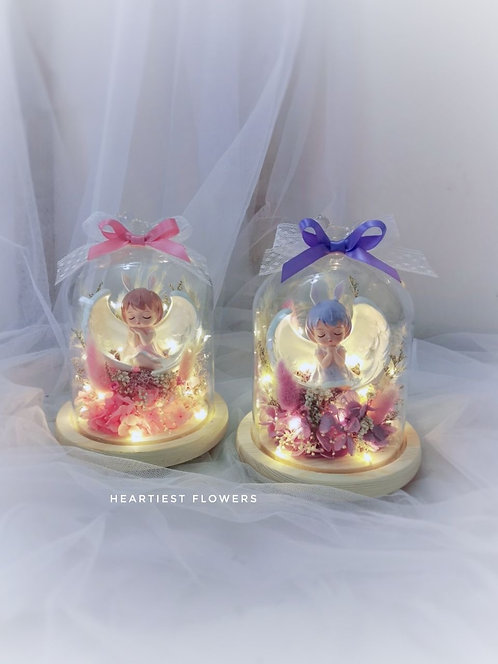 Preserved Flower Angel Jar