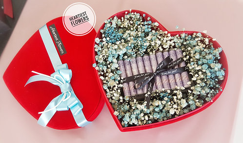 Blue Babysbreath Gift Box