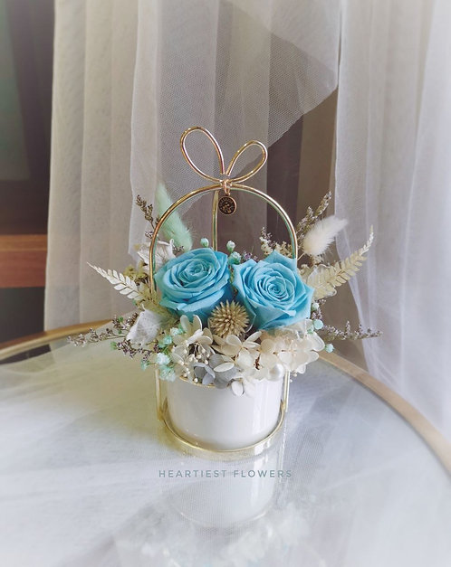 Aquarius Special - Preserved Sky blue Rose Gold Handed Pot