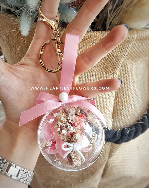 Tiny Bouquet Hanging Ornament - with keychain