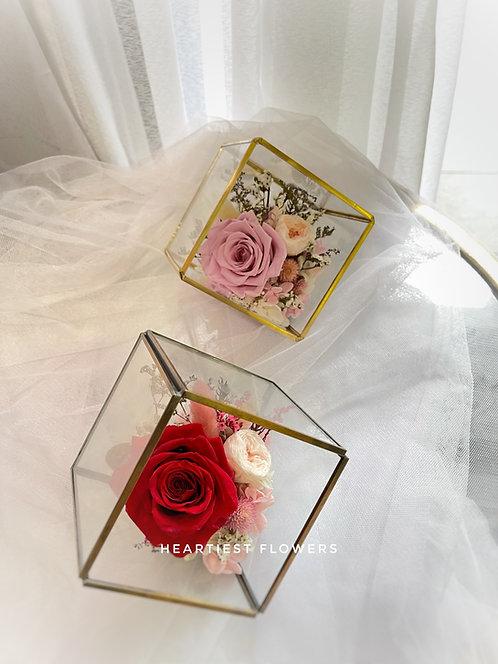 Preserved Rose Terrarium