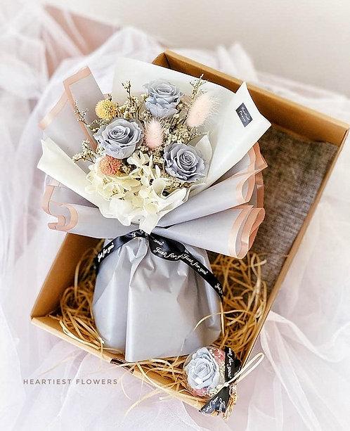 Grey Rose Gift Box