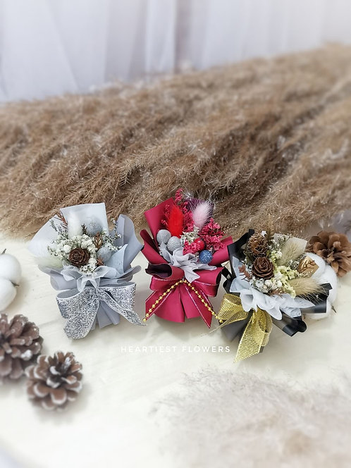 Christmas Special - Dried Flower Mini Bouquet Car Perfume
