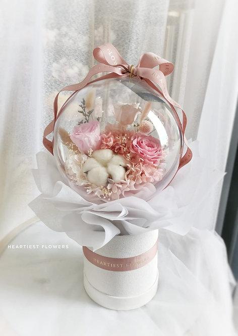 Make A Wish - Acrylic Ball Preserved Flower