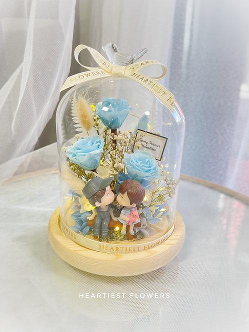 Couple doll starlight jar