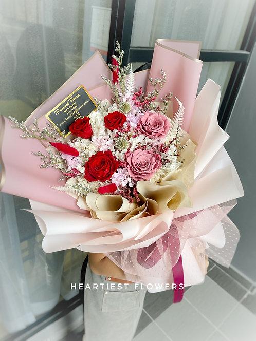 5 stalks preserved rose bouquet