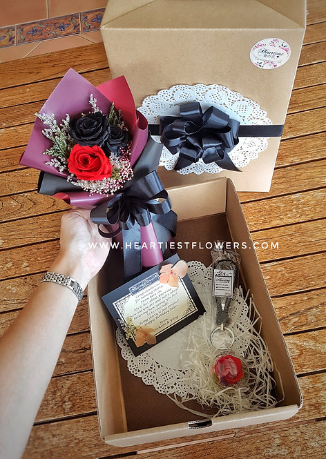 Surprise Gift Box -  Black × Red