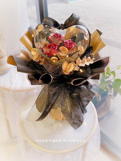 My Heart Beats For You - Soap Flower Acrylic Heartshape Ball