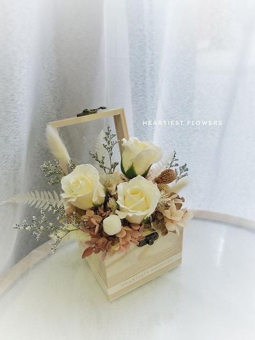 Rose Garden Wooden Box