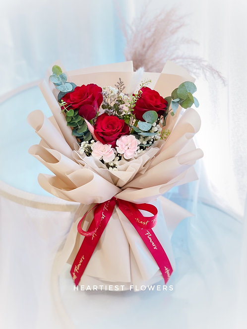 My Rosa - 3 stalks fresh roses bouquet