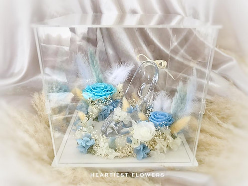 Cinderella Glass Shoes - Preserved Flowers
