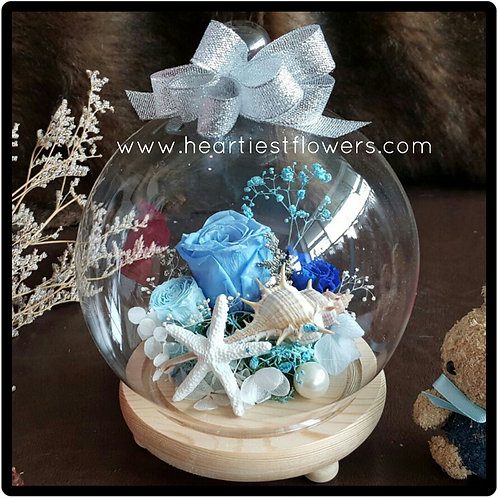 Preserved Flowers In Jar - Ocean Theme
