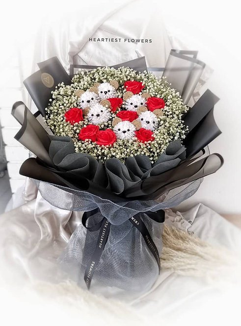 Mighty Mice - Soap Flower Bouquet